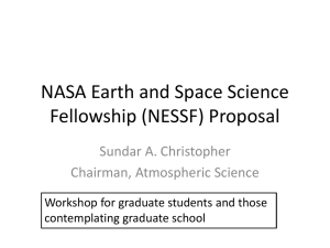 NASA Earth and Space Science Fellowship