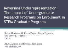 The Impact of Undergraduate Research Programs on Enrollment in