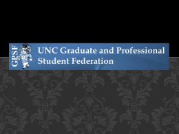Graduate and Professional Student Federation (GPSF) at UNC