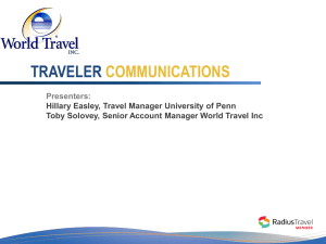 Traveler Communications Best Practices