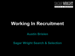 Sagar Wright Search & Selection - Sheffield Universities Careers Fairs