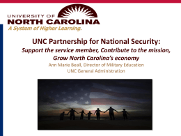 UNC Partnership for National Security