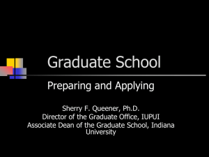 Applying to Graduate School