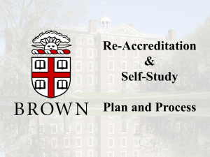 NEASC Re-accreditation Self-Study