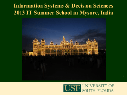 IT Summer School at Infosys