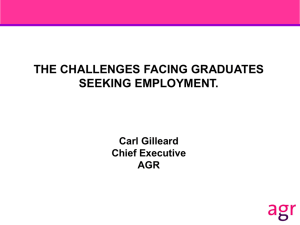 The Challenges Facing Graduates Seeking