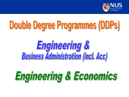 Double Degree Programmes BEng(Hons)