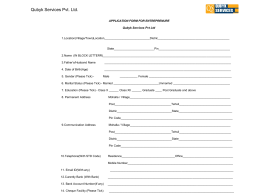 Application Form - Qubyk Services Pvt Ltd