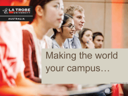 La Trobe University Presentation - Innovative Research Universities