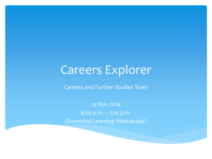 Careers Explorer