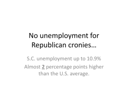 No unemployment for Republican cronies…