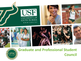 GPSC Overview - Graduate and Professional Student Council