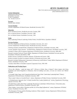 CV - jennymadestam