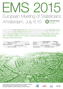 European Meeting of Statisticians Amsterdam, July 6-10