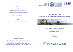 "I Workshop MEF–LMEF ""Preparing for the Job Market with a"