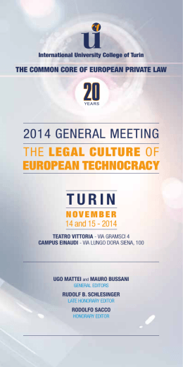 2014 general meeting - The Common Core of European Private Law
