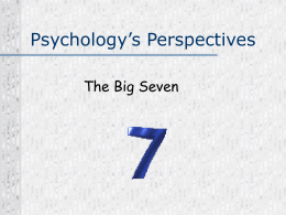 """Big 7"" Perspectives of Psychology Powerpoint"