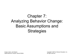 Chapter 7 Analyzing Behavior Change