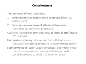 Chapter 5: Consciousness