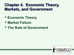 Chapter 4. Economic Theory, Markets, and Government