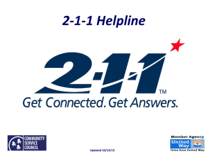 2-1-1 Helpline - Community Service Council of Greater Tulsa