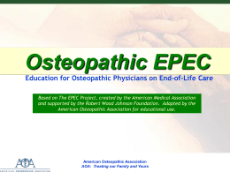 Osteopathic EPEC Module 2 - American Osteopathic Association