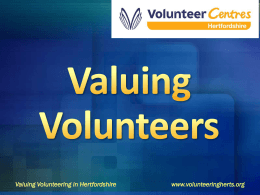 Valuing Volunteer Management 6 Point Promise