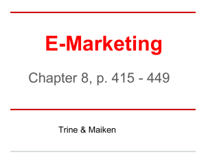 E-marketing Part 2