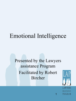 Emotional Intelligence - Lawyers Assistance Program of British