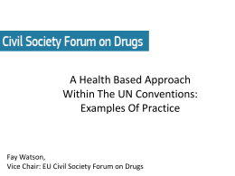 EU Civil Society Forum on Drugs