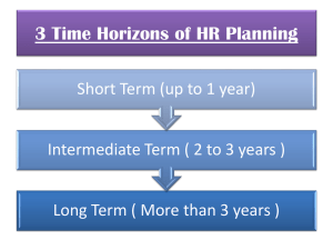 3 Time Horizons of HR Planning Forecasting Demand and Supply