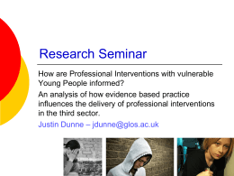 Research Seminar - Insight – University of Gloucestershire