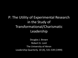 The Utility of Experimental Research in the Study of