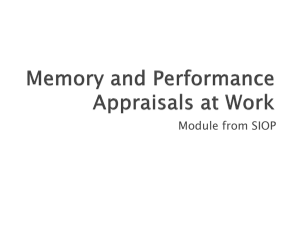 Memory and Performance Evaluations at Work