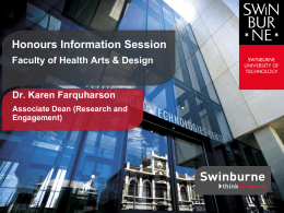 Honours information session presentation [PPT 5.2MB]
