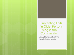 Preventing Falls in Older Persons Living in the Community
