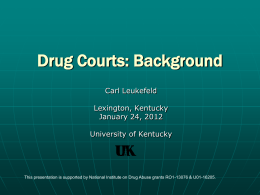 Drugs Courts - The Different Faces of Substance Abuse