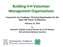 Presentation: Volunteer Middle Management Systems