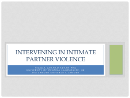 Intervening in Intimate Partner Violence Slides
