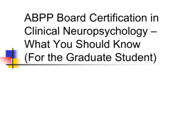 ABCN Grad Student Outreach - American Academy of Clinical
