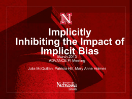 Implicitly Inhibiting the Impact of Implicit Bias