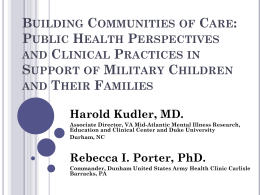 Communities of Care - Military Child Education Coalition