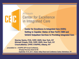 Co-Occurring Disorders Center for Excellence (COCE)