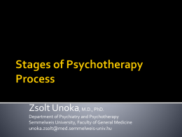 Stages of Psychotherapy Process