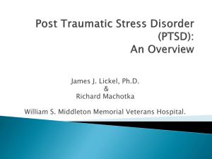 Psychological Theory of PTSD and Evidenced