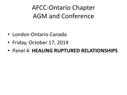 Questions - AFCC Ontario