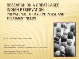 Research on a Great Lakes Indian Reservation