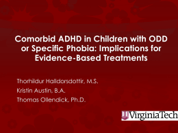 Comorbid ADHD in Children with ODD or Specific Phobia