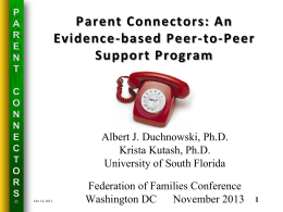 Parent Connectors - National Federation of Families for Children`s