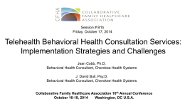 Implementation: Challenges - Collaborative Family Healthcare
